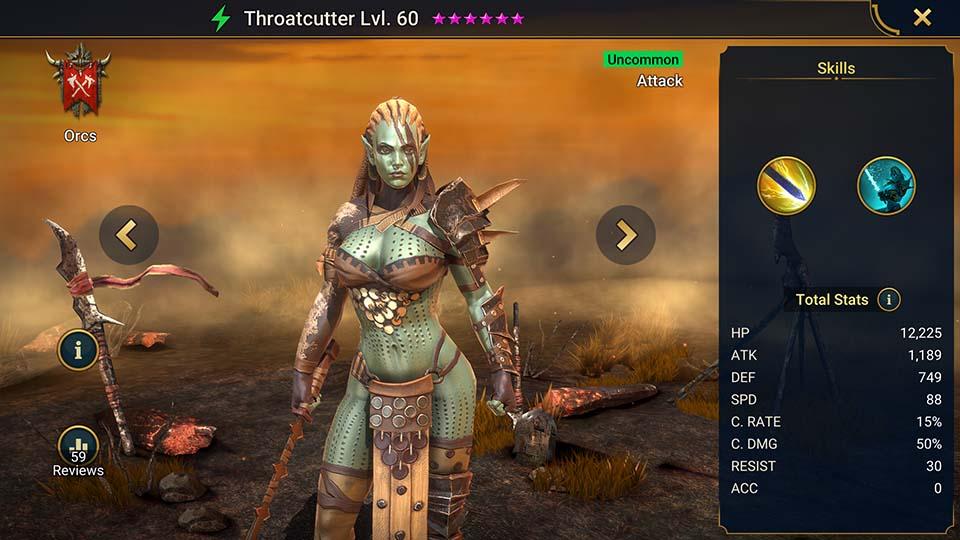 Throatcutter Raid Shadow Legends
