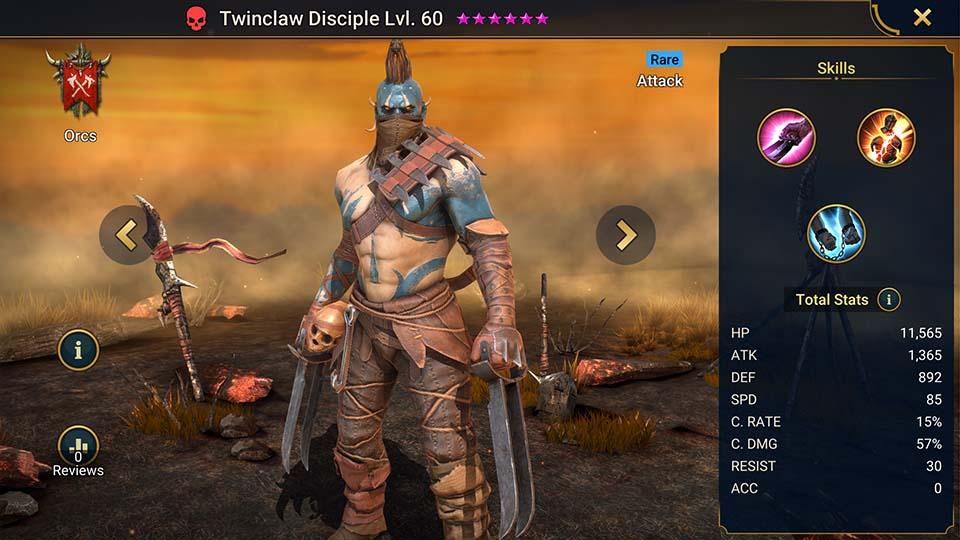 Twinclaw Disciple Raid Shadow Legends