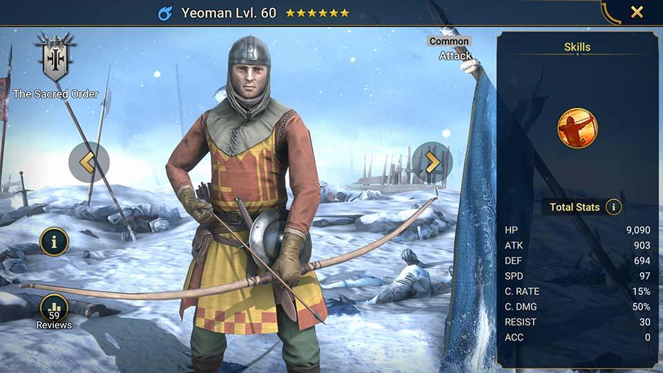 Yeoman Raid Shadow Legends
