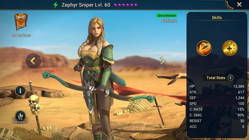 Zephyr Sniper Raid Shadow Legends