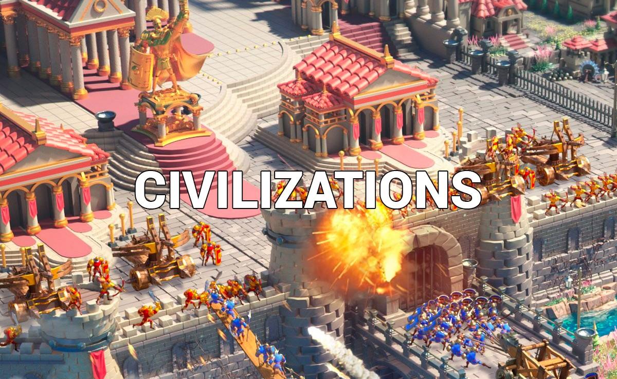 Rise of Kingdoms Civilizations