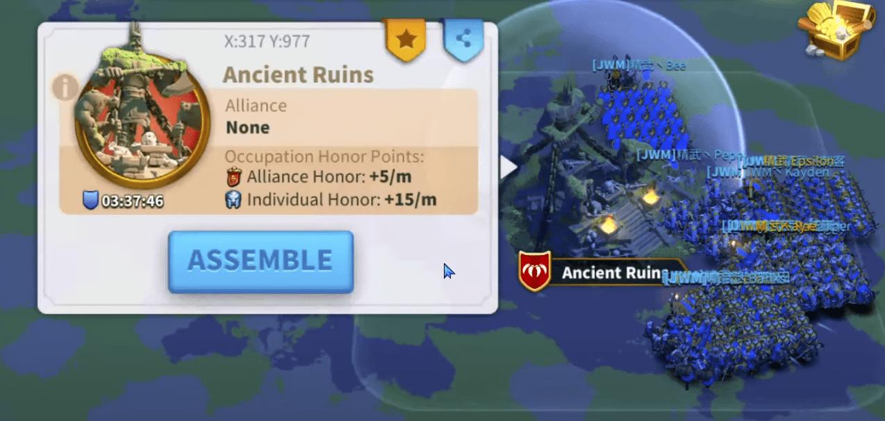 ancient ruins Rise of Kingdoms