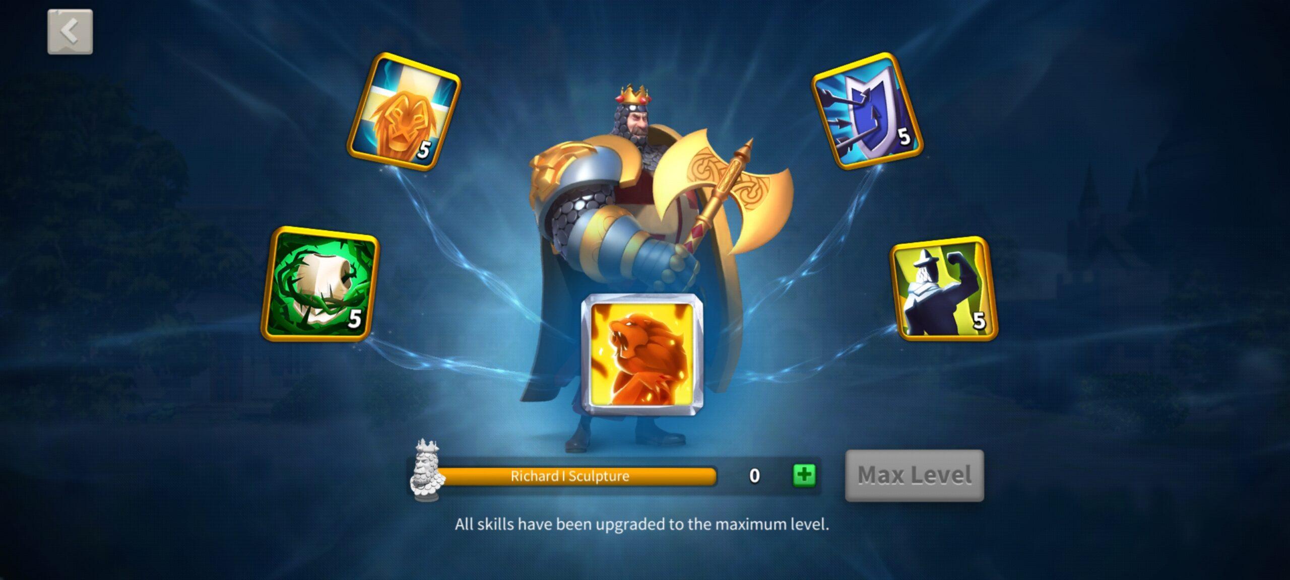upgrade skills Rise of Kingdoms