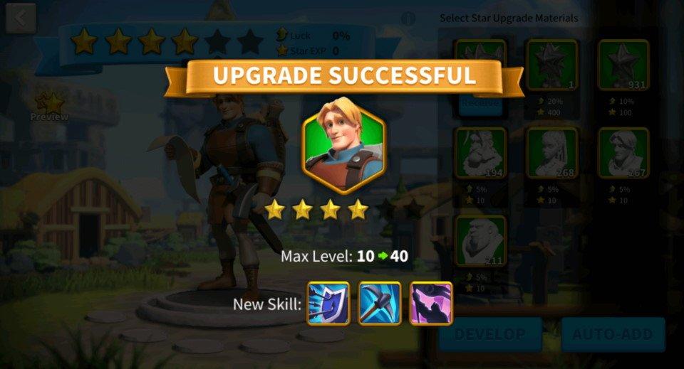 4 stars trick Rise of Kingdoms